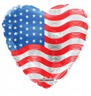 USA Flag On Heart